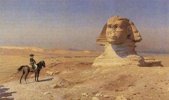 Bonaparte devant le Sphinx de Gérôme