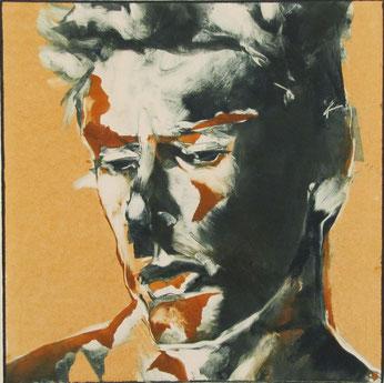 """Contemplative"" monotype, Stephen A MacFarlane"