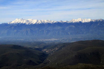 View of Taygetos Mountain Range