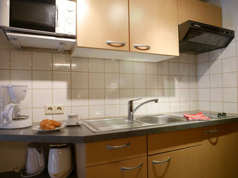 Küche Ferienwohnung Gästehaus Gaby