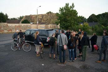 Treffpunkt für die Batnight war der Dorfplatz Stünz. Foto: René Sievert