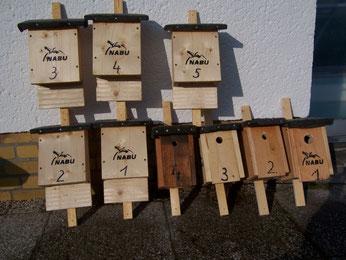Fledermaus- und Vogelkästen bereit für den Einsatz. Foto: Steffen Wagner