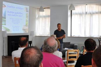 Gastgeber der Veranstaltung war der Landtagsabgeordnete Franz Sodann, der den Abend in seinem Wahlkreisbüro in Leipzig-Schönefeld eröffnete. Foto: NABU Plaußig-Portitz