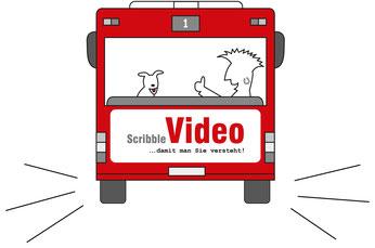 Ein Scribble Video lebt von der Faszination, dass ein Bild im Zeitraffer vor den Augen des Betrachters entsteht.