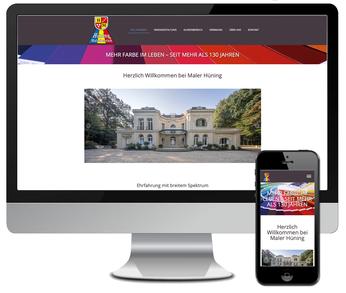 Website für Maler Hüning GbR in 48629 Metelen im Kreis Steinfurt