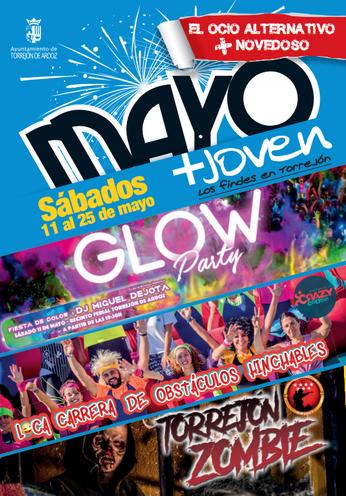 Fiestas en Torrejon de Ardoz Glow Party Loca Carrera de Obstaculos Hinchables Torrejon Zombie