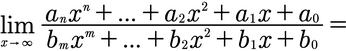 Beispiel des Limes einer gebrochenrationalen Zahl gegen plus Unendlich