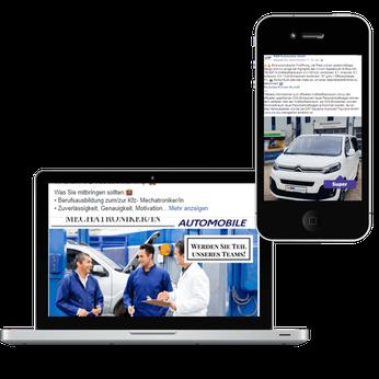Facebook Seite K und M Automobile