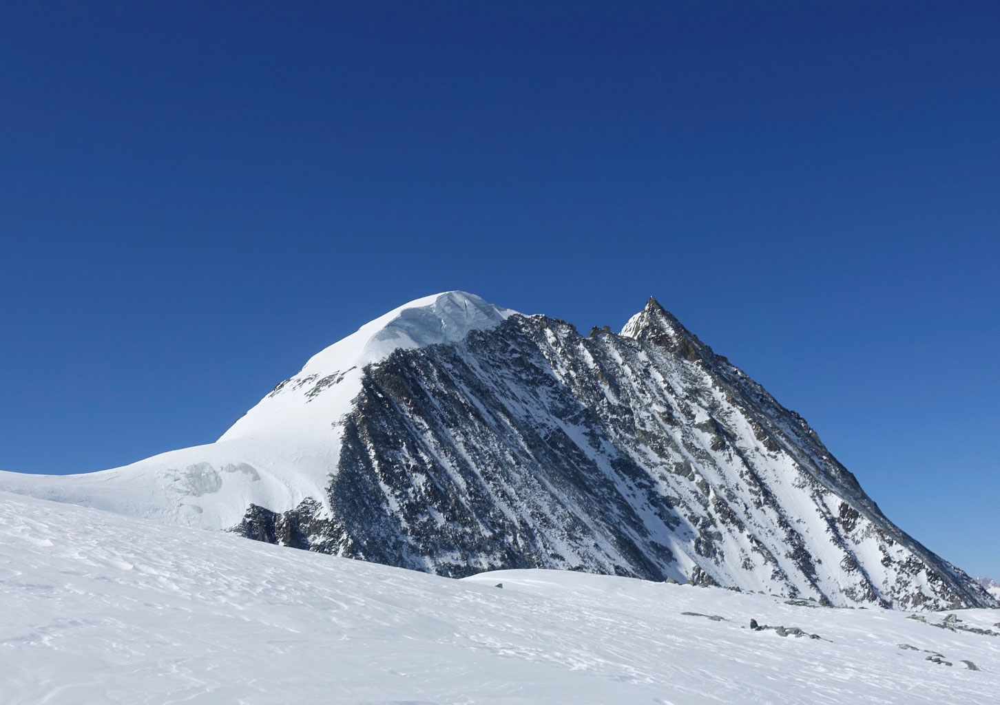 Mont Blanc de Cheilon, Pas de Chèvres, Arolla, Wallis, Schweiz,
