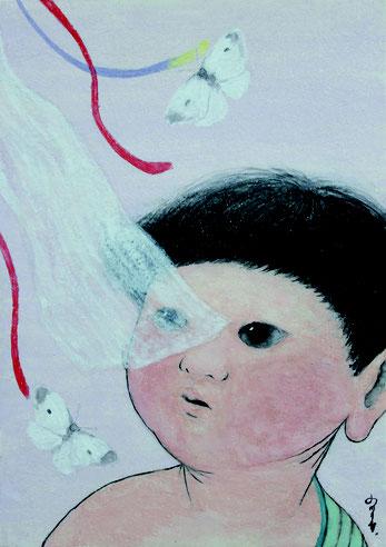 香気 日本画 SM 飛跳ぬ 小川千尋・名雪大河・長谷川理奈・渡辺由起新鋭作家展 ~飛跳ぬ~@伊勢