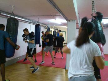 Fitnessboxen Boxsackparcours, August 2017 @ M's-Gym Bern Ittigen