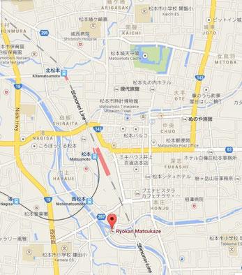 Matsumoto / Cliquer sur la carte pour agrandir