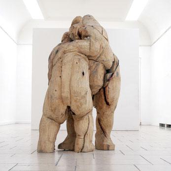 Rematch, 2002, Skulptur, sculpture, Holz, Kunst, Art, Kavata Mbiti, Universität der Künste Berlin
