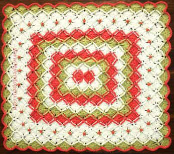 Tutorial: manta o cobija tejida en bavarian crochet con rosas rococó