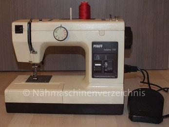 Pfaff Hobby 721 Nutzstich-Automatik-Nähmaschine, Hersteller: Pfaff AG Karlsruhe-Durlach bzw. die Tochtergesellschaft Dorina (siehe Dorina – Geschichte) (Bilder: Th. Schumacher)