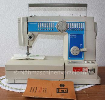 Naumann Famula electronic 4891, (16 Programme), Freiarm-Nähmaschine mit Klapptisch und Einbaumotor, Hersteller: Textima VEB Nähmaschinenwerk Wittenberge (Bilder: S. Becker)