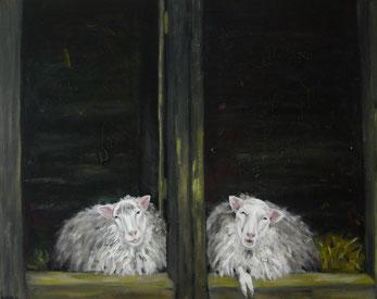 Small Talk, 80x100cm, Acryl auf Leinwand, 2011