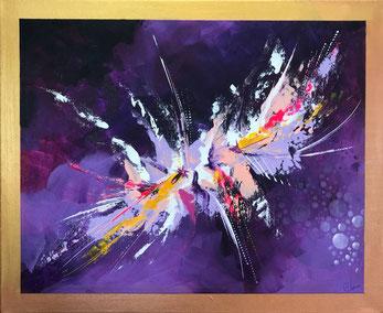 peinture abstraite violet