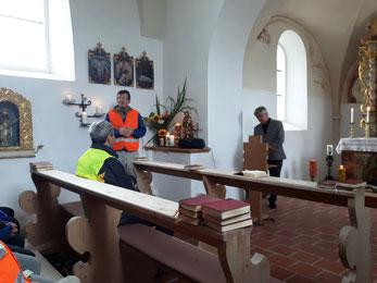 Matthias Kreutz dankt allen Teilnehmern, Diakon Herbert Wagenschwanz und allen Helfern