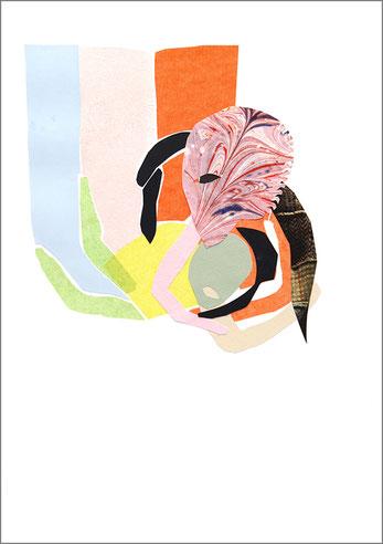 Fight, 2013, Scherenschnitt, 29,7 x 42 cm