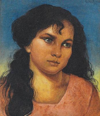 El retaro o cabeza de muchacha, con un planteamiento renacentista se convertirá en una fórmula muy utilizada por artistas con una moderna relectura del moderno clasicismo.