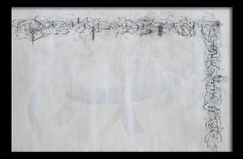 Schriftkunst abstrakt Großformat