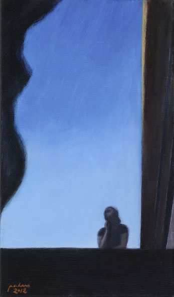 philipp christoph haas | [ohne titel] aus der serie 'figur im raum', akryl auf leinwand, 2012