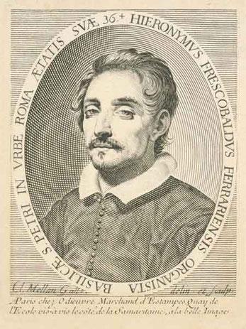 Girolamo Frescobaldi 1583-1643, Engraving by Claude Mellan (1619) .@ http://www.sothebys.com/