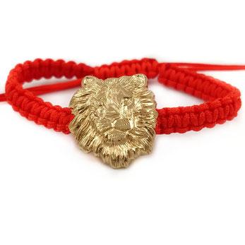 Löwenarmband von Caroline Ertl - Atelier STOSSIMHIMMEL
