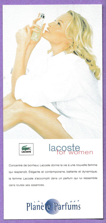 LACOSTE FOR WOMEN - CARTE MODELE N° 1