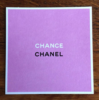 CHANEL - CHANCE : RECTO - CARTE ASIATIQUE