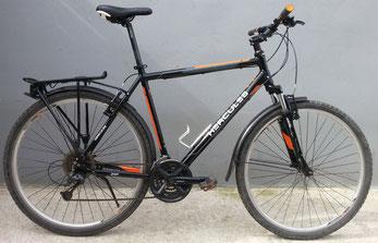 Trekkingrad Herren von Hercules, schwarz-orange