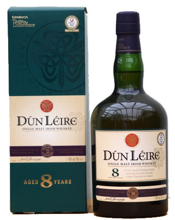 Dun Leire 8 Year Old Single Malt Irish Whiskey