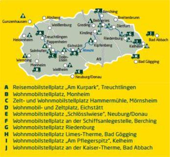 Wohnmobilstellplätze (Quelle: Naturpark-Altmuehltal.de)