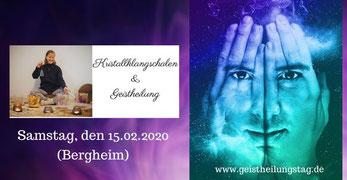 Kristallklangschalen und Geistheilung, Kirsten Schäfer und Jesus Lopez, Topevent in Bergheim,  Kristallklangschalenkonzert