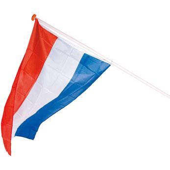Nederlandse vlag 100x150 cm (zonder stok) € 4,75 NIET OP VOORRAAD