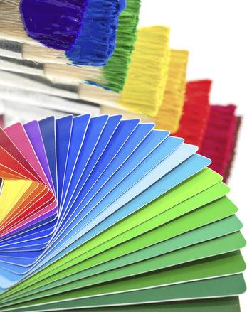 couleur pinceaux décoration