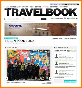 Berlin Food Tour on TRAVELBOOK
