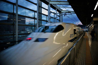 わ~~~新幹線♪すごく嬉しかったよ、初めて乗ったから…