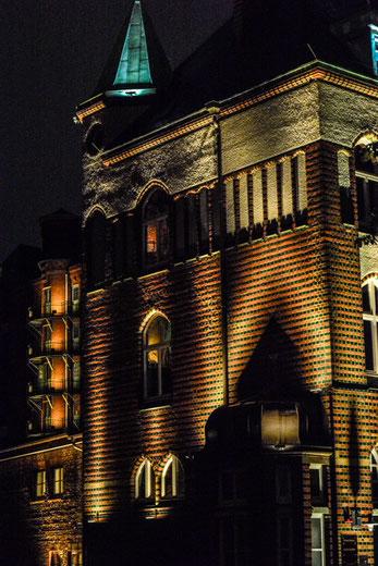 Speicherstadt nachts um halb eins