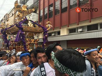旗岡八幡神社,宮神輿,新調,完成披露,渡御,品川区 , 神輿渡御