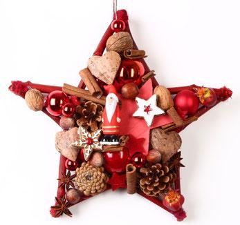 handgemachter Stern in rot