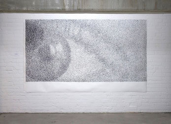 Studie für ES 2007 Acrylfarbe 150 x 255 cm