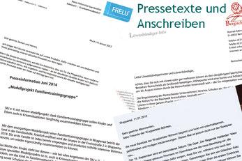 Die Textmamsell: Collage Pressetext und Anschreiben (Text, Konzeption)
