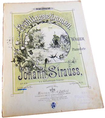 Весенние голоса, вальс, Иоганн Штраус, старинные ноты