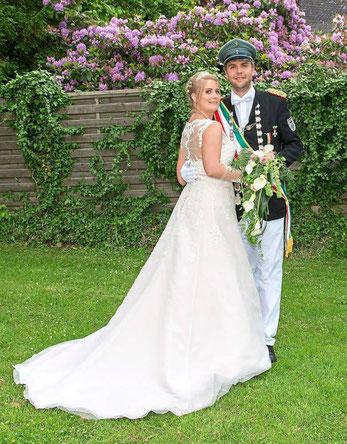 Das amtierende Königspaar des St. Sebastianus Jungschützenvereins Michael Mertens und Doreen Mahnke