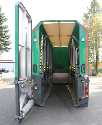 Technik Innenlader Glastransport