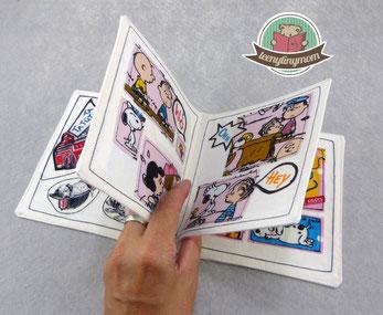 Spielbuch aus Stoff, Comic Zeitung , waschbares Spielbuch Quiet book