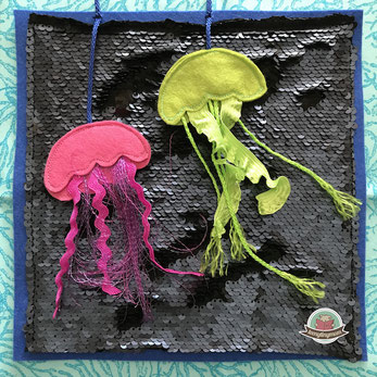 Jellyfish, quiet book, toddler, touch and feel book