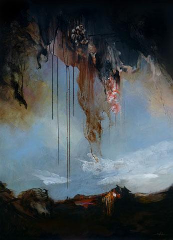 Le départ Acrylique sur toile dim 130cm x 89cm